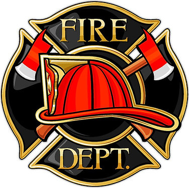 Fire Department Vinyl Decal