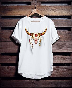 Ethnic American Tribe Bull tshirt