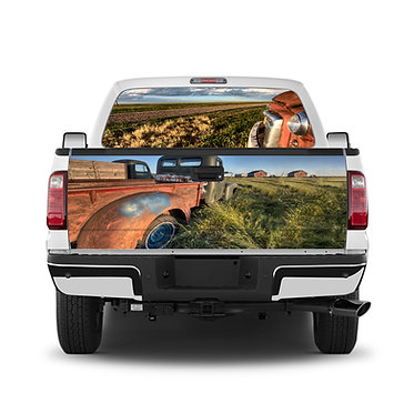 Vintage Truck Tailgate Wrap Window Decal