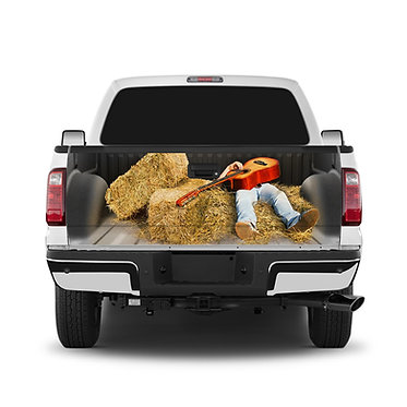 Country Singer Tailgate Wrap Window Decal