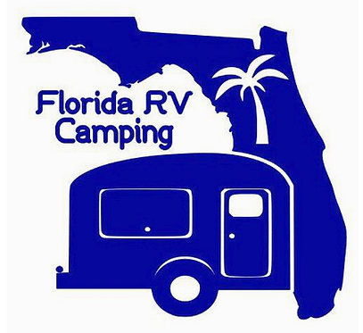 Florida RV Camping Small Travel Trailer Decal 6""