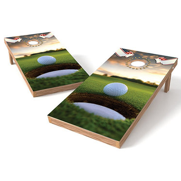 Golf on the Edge Cornhole Wrap Decal