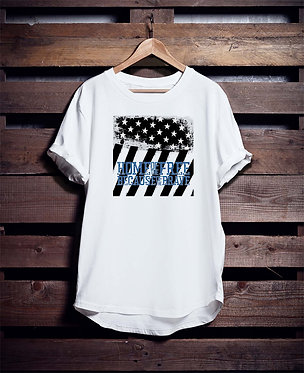 Blueline Police Flag 5 Shirt