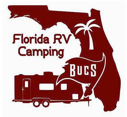 """RV Camper Tampa Bay Bucs Decal 6"""""""