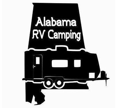 "Alabama Double Axel Travel Trailer 6"" Decal"