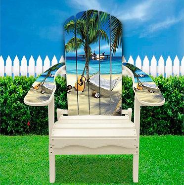 Beach Airplane Adirondack Chair wrap