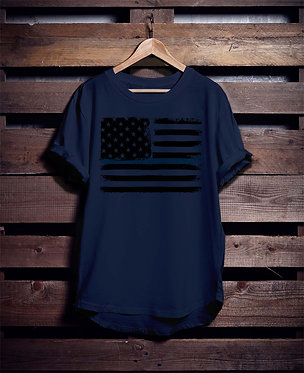 Blueline Police Flag 4 Shirt