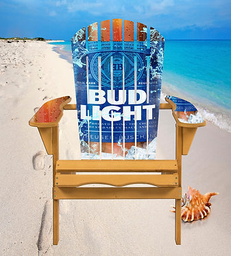 Bud Light Beer Adirondack Chair Wrap Decal