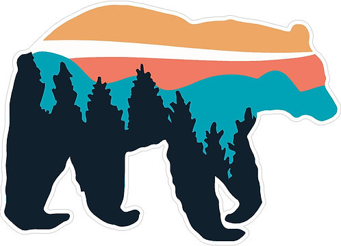 North Carolina Bear Vinyl Decal