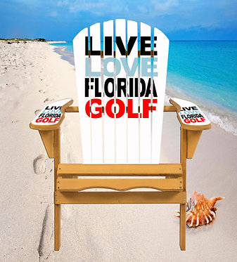 Live Love Florida Golf Adirondack Chair Wrap Decal