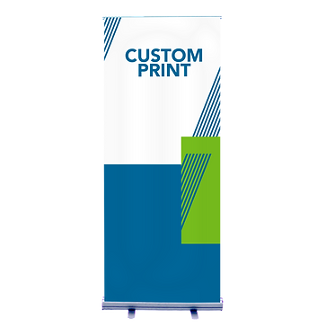 "Economical Banner Stand - 33"" or 47"" Design, Hardware Included"