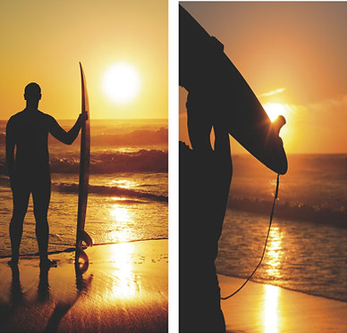 Surf Sunset Beach Wrap Set