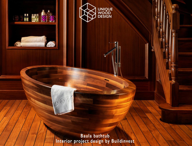 Mbrace Interiors Luxury Wooden Bathtubs Wash Basins Showers