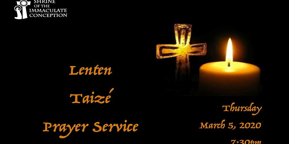 Lenten Taize Prayer Service