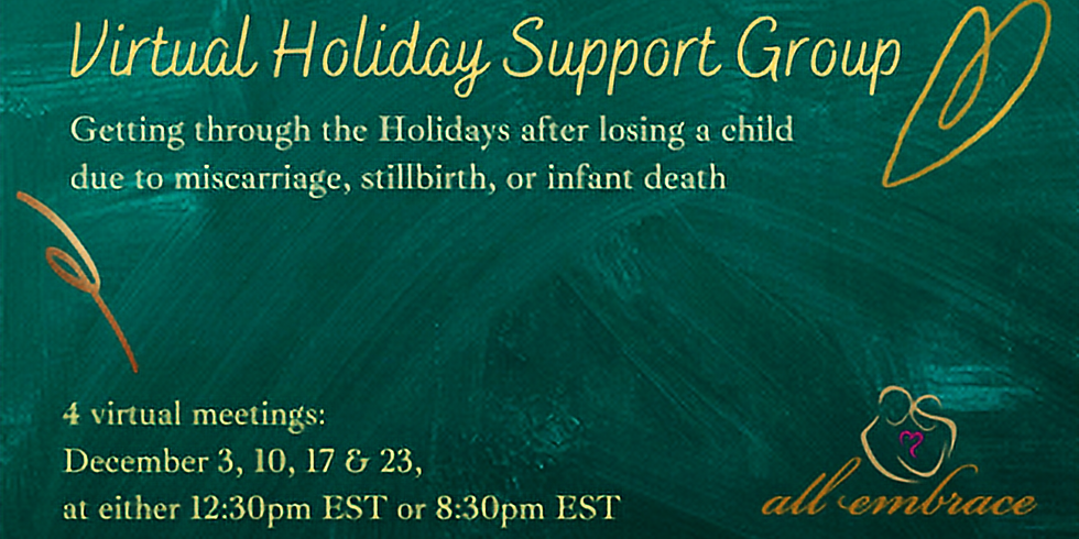 All Embrace Virtual Holiday Support Group