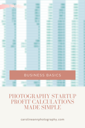 Photography Startup Profit Calculations Made Simple