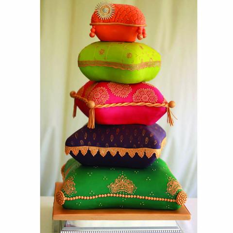 Indian Pillow wedding cake
