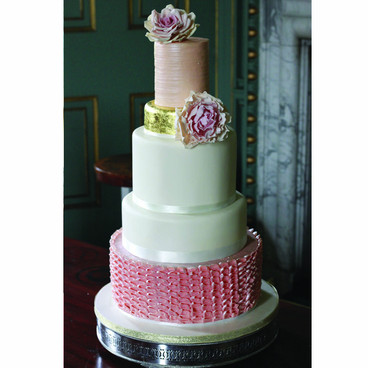 Large buttercream wedding cake