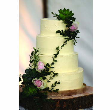 Woodland buttercream wedding cake