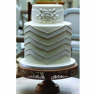 1920's style wedding cake