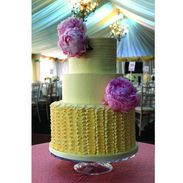 Ruffle Buttercream wedding cake