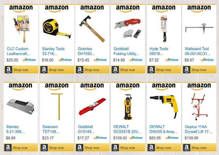Drywall hanging tools store screenshot.p