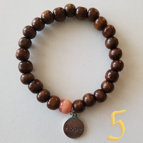 Uterine Cancer Awareness Bracelet