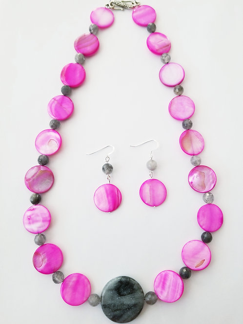 Gertrude Necklace and Earring Set