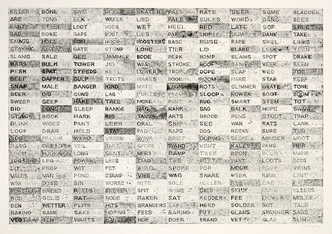 Word Woes Etching