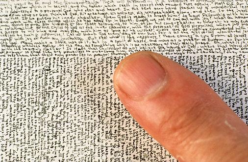 Microscopic Writing