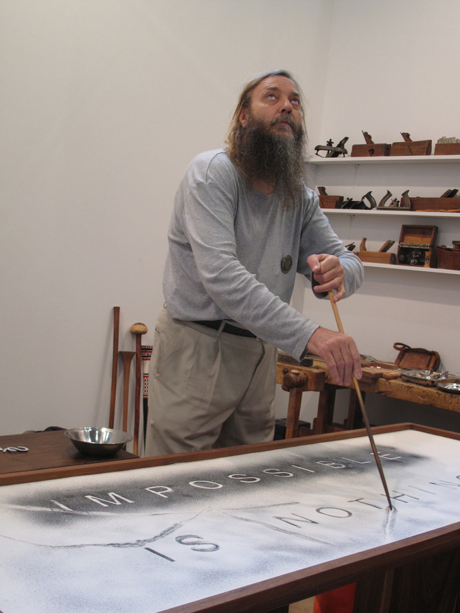 Feeling the Presence of the Druid Willem Boshoff