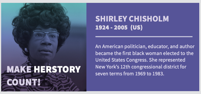 American politician Shirley Chisholm