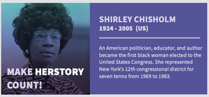 American politician Shirley Chisholm