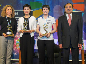 Female space explorers share their experiences bridging the digital gender divide on World Telecommu