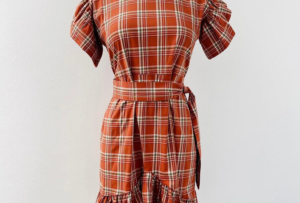 Vestido Country Naranja