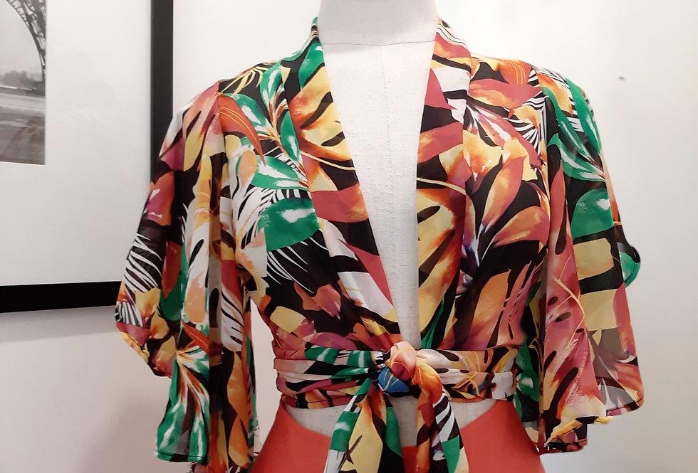 Blusa Chiffon Tropical