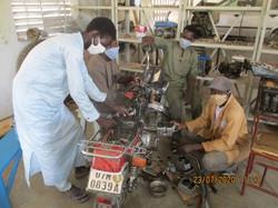 Formation en mécanique à Bol (Tchad)
