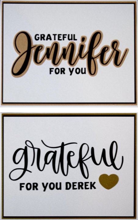 Personalized Gratitude Cards