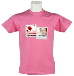 uomo t-shirt rosa