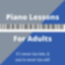 Piano lessons for adult beginners