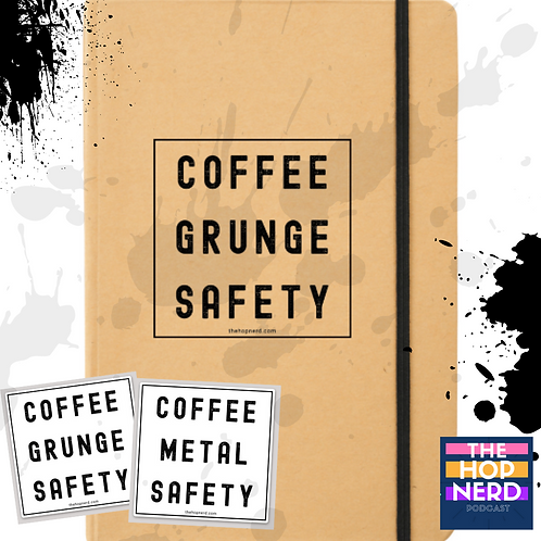 COFFEE | GRUNGE | SAFETY  Notebook and Sticker Combo Pack