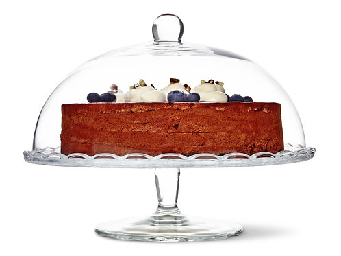 11 inch Glass Cake Stand with Lid
