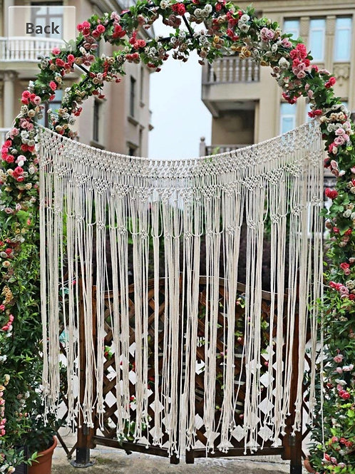 "Macrame backdrop 56""x50"""