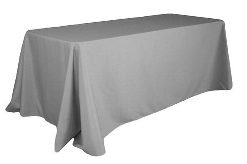 Soft grey 90x132 tablecloths