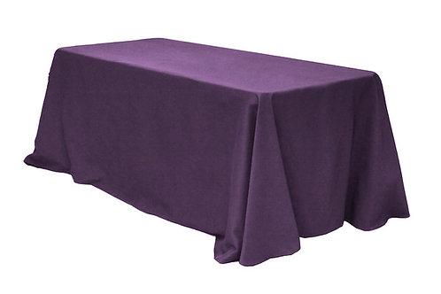 Plum polyester 90x132 tablecloths