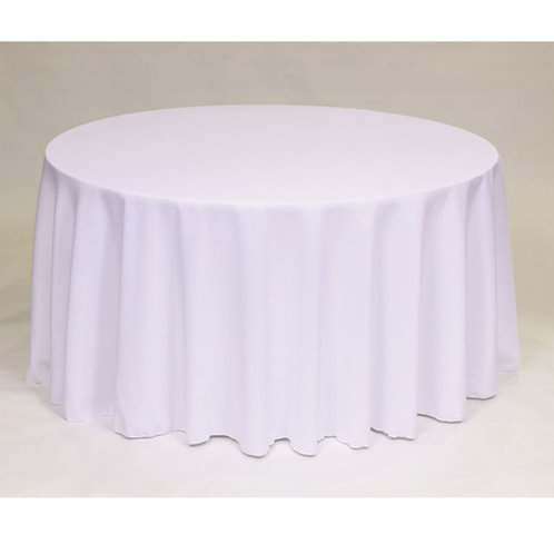 white 120' tablecloth