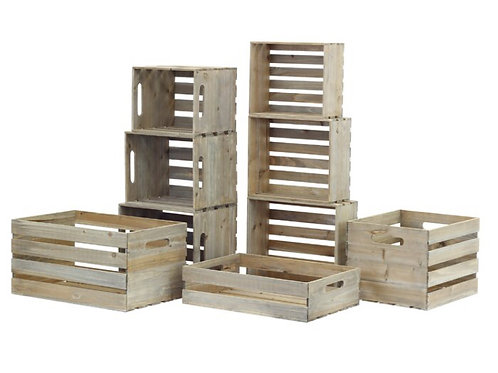 Set of 8 crates