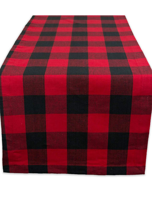 Buffalo plaid flannel table runner