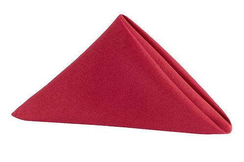 cherry red polyester napkin 20x20