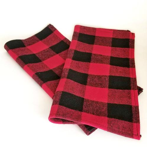 Buffalo plaid flannel napkins
